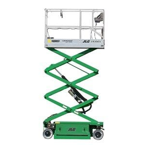 Green work platform from Sunbelt Rentals