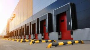 Red dock doors, commercial dock cleaning