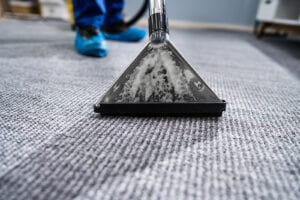 Industrial carpet cleaning close-up