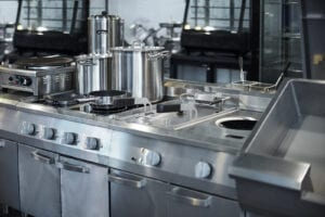 Clean stainless steel kitchen restaurant cleaning services