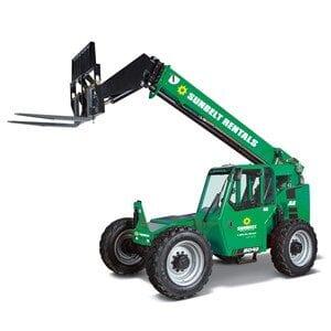 Sunbelt Rental fork lift for industrial cleaning