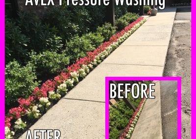 AVEX Pressure Washing Sidewalk