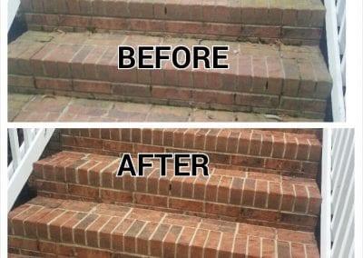 AVEX Pressure Washing Brick Stairs