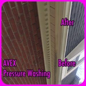 AVEX Pressure Washing Gutters