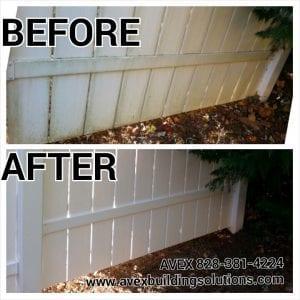 AVEX Pressure Washing Fence